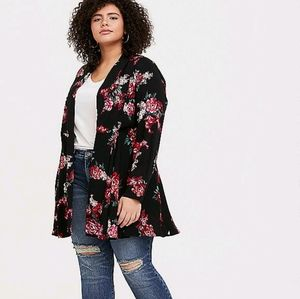 Torrid Twill Fit and Flare Coat